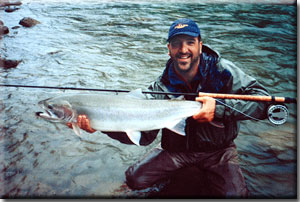 Jeff Putnam on the Dean River, Steelhead 2003