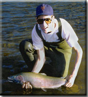Jeff on the American River Steelhead, 1987